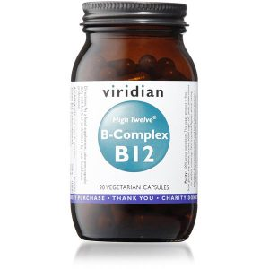 Viridian HIGH TWELVE Vitamin B12 w/ B-Complex - 90 Capsules Scotland