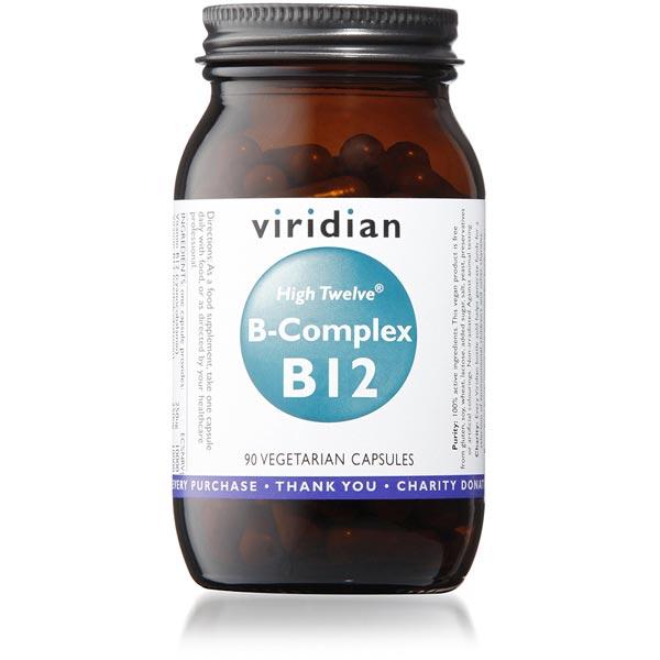 Viridian HIGH TWELVE Vitamin B12 w/ B-Complex - 90 Capsules Scotland