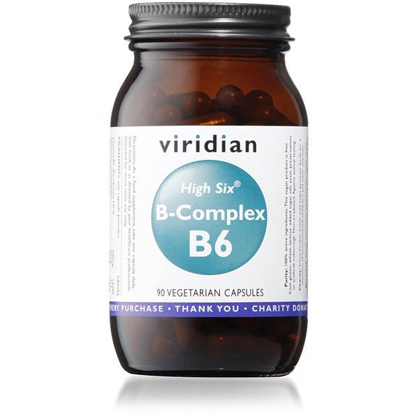 Viridian HIGH SIX™ Vitamin B6 with B-Complex Veg- 90 Capsules Scotland