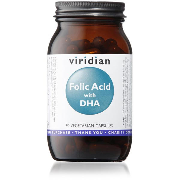 Viridian Folic Acid (400ug) with DHA - 90 Capsules Scotland