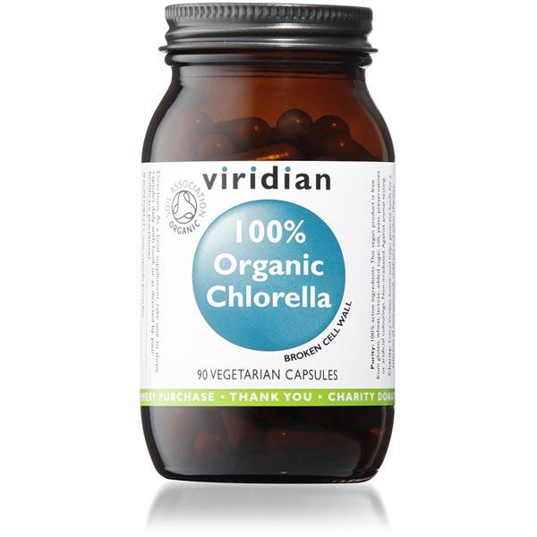 Viridian Organic Chlorella 400mg - 90 Capsules Scotland