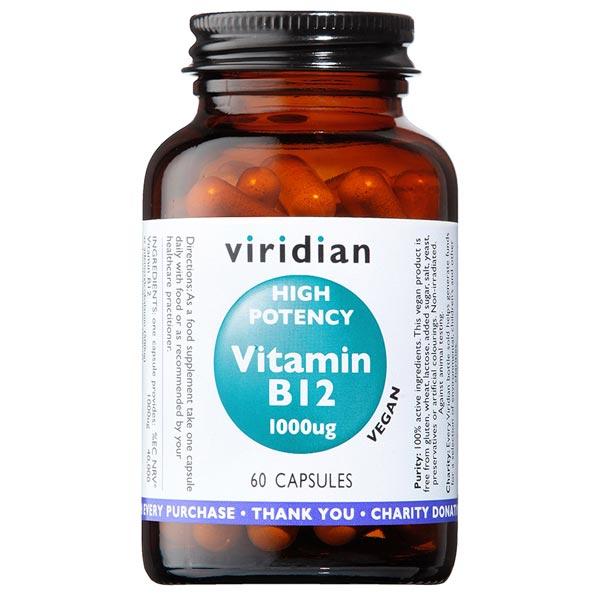 Viridian Hi-Potency Vitamin B12 1000ug - 60 Capsules Scotland