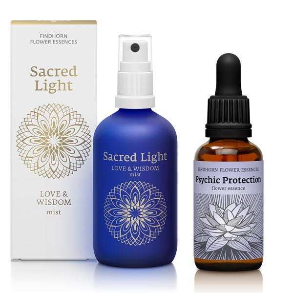 Sacred Light Love & Wisdom Mist by Findhorn Flower Essence, Psychic Protection Flower Essence by Findhorn Flower Essence, Scotland UK
